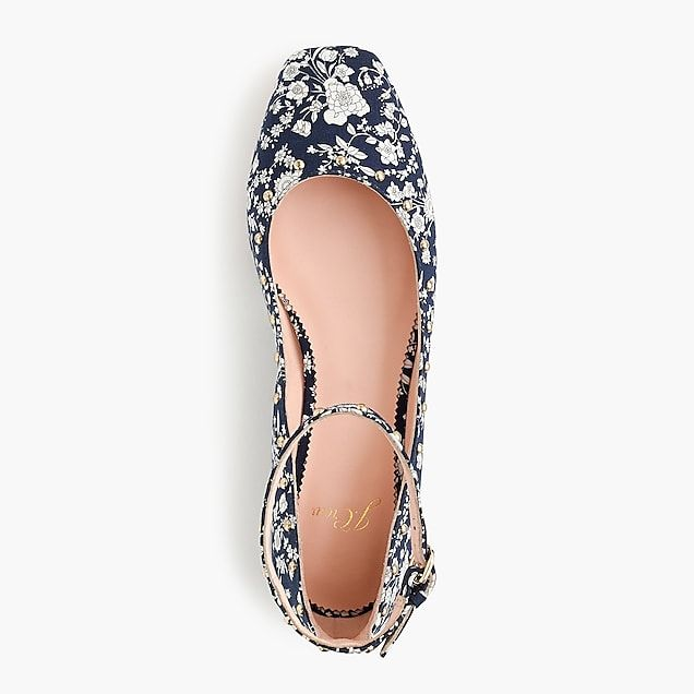 poppy ankle-strap ballet flats in