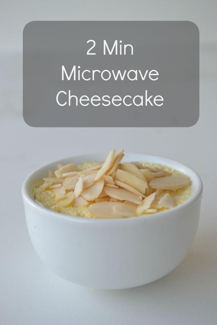 2 Min Microwave Cheesecake