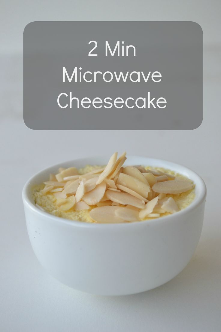 2 Min Microwave Cheesecake