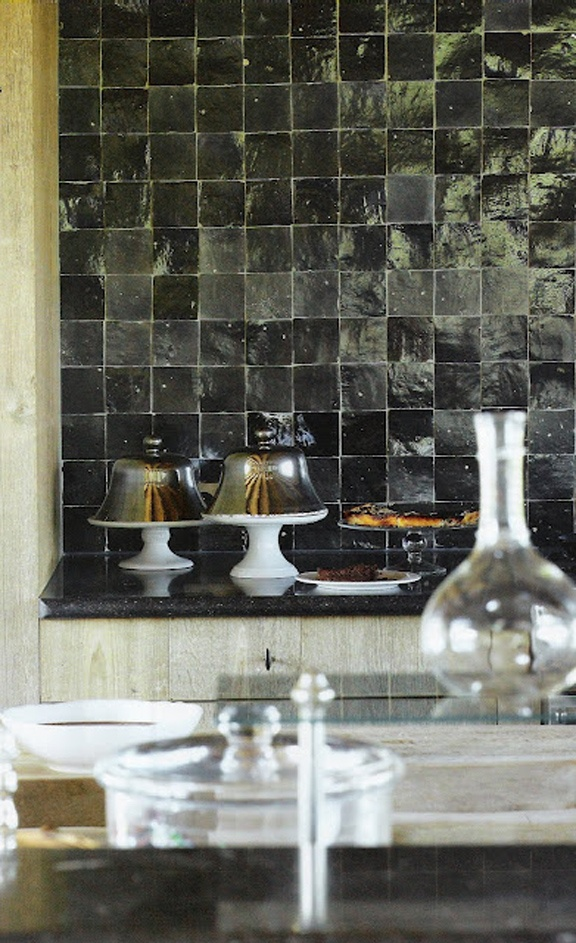 .handmade tile backsplash, Belgian kitchen Handmade tiles can be colour coordinated and customized re. shape, texture, pattern, etc. by ceramic design studios