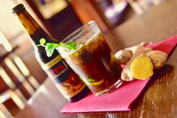 Aeresis Mojito | #Lime #ZuccherodiCanna #Menta #RumBianco e #AeresisBlackAle #Cocktail #clocktowerpub