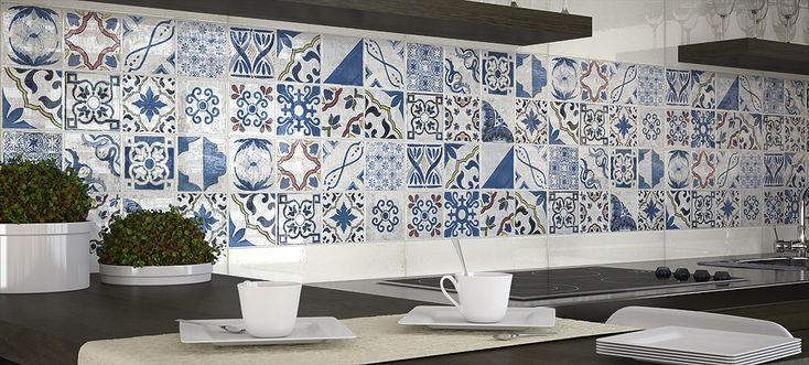 Top 15 patchwork tile backsplash designs for kitchen for Carrelage mural carreau ciment