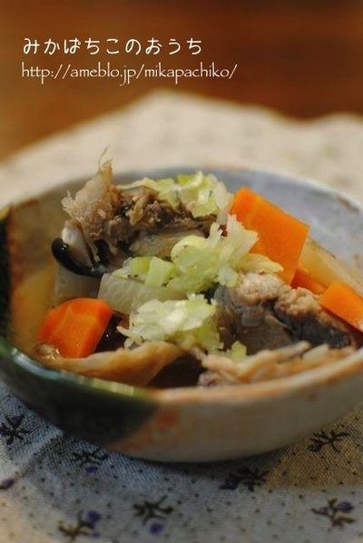 ヒガシマルうどんスープの素であら汁* by みかぱちこさん | レシピ ...