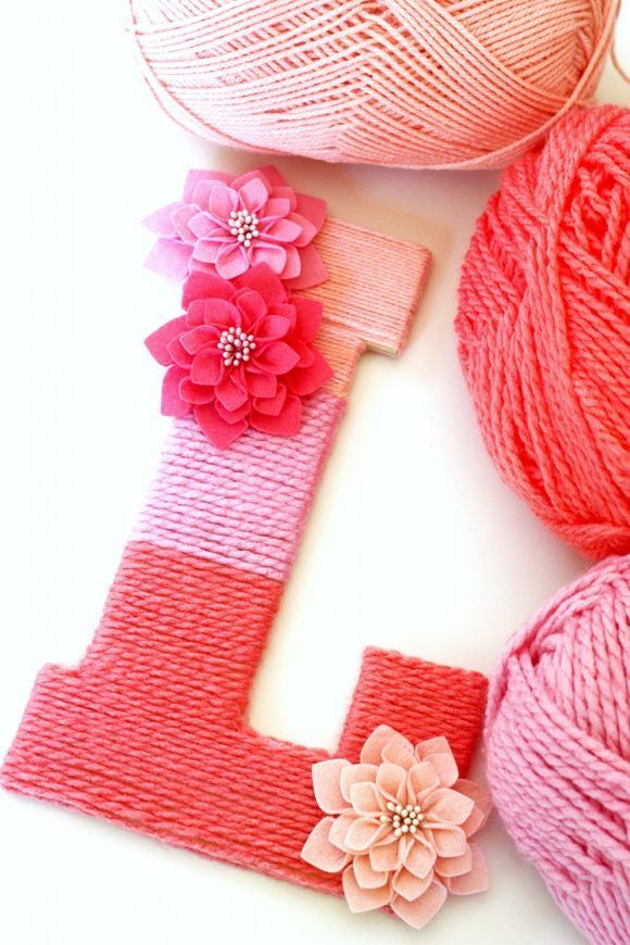 Yarn-Wrapped Ombre Monogrammed Letter | CatchMyParty.com
