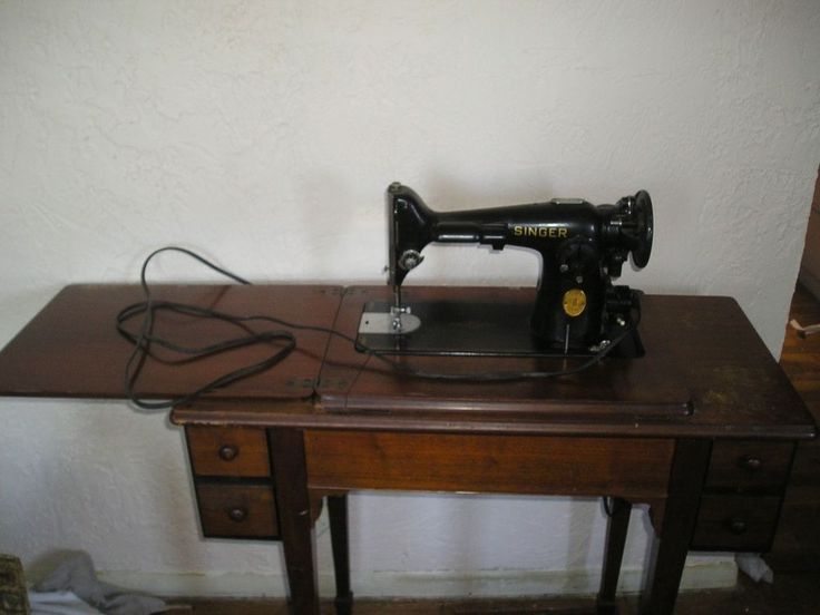 Luxury New Sewing Machine In Old Cabinet