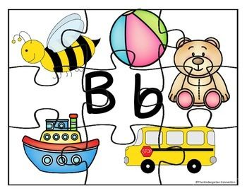 Alphabet puzzles for literacy centers -26 full color puzzles $