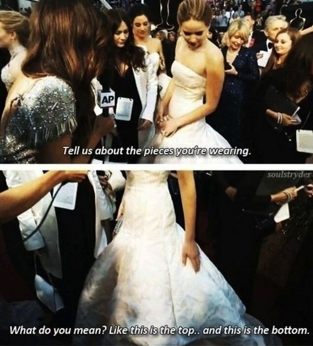 "When she wasn't afraid to give sexist questions, (like ""What are you wearing?"") the answer they deserved. 