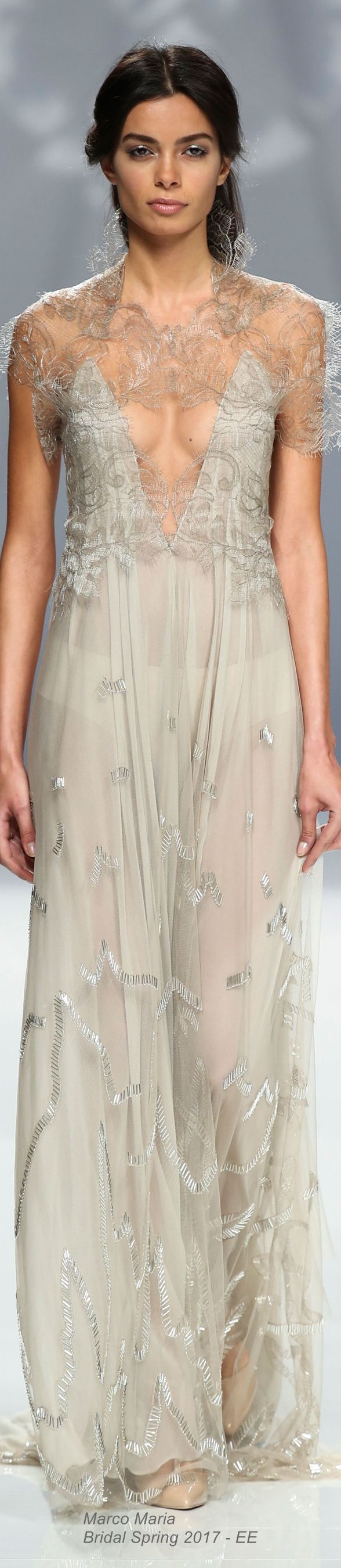 Marco Maria Bridal Spring 2017 /// this is very pretty but also very see through. Becca if you where this I think Grandmama would have a heart attack