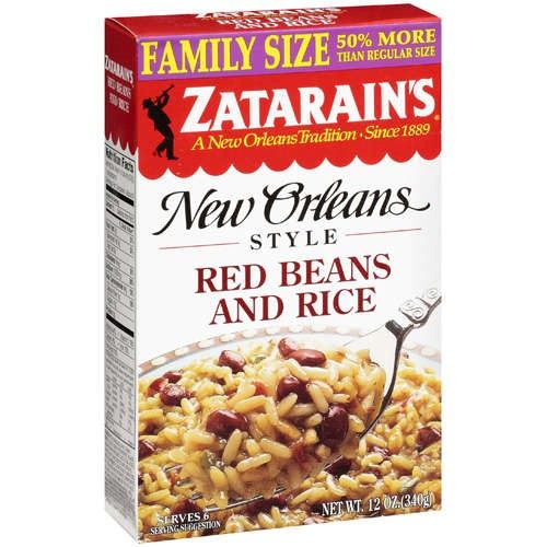 "Riz Zatarain's aux Haricots rouge - ""red beans and rice"" :"