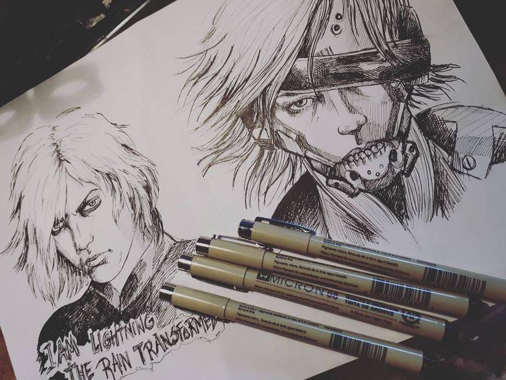 "(@candycandy362)  ""Doodling with #microns ✒ #drawing #sketch #gaming  #mgs #mgs4 #metalgearsolid #raiden…"""