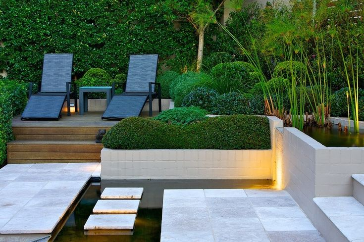 Contemporary landscape by art in green nice softer forms for Form garden architecture
