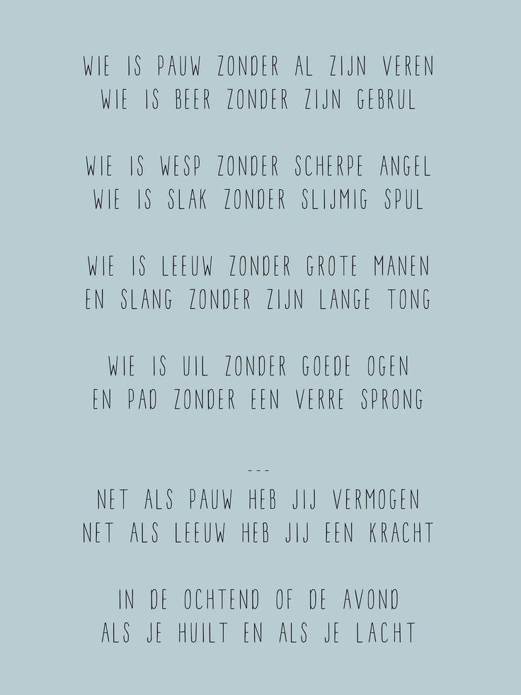 Gedichtje Wie is Pauw...