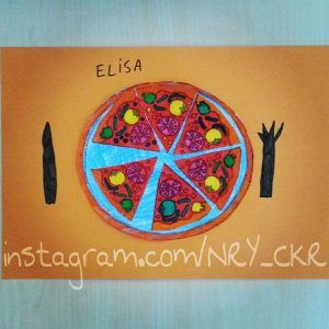 Pizza craft idea for kids | Crafts and Worksheets for Preschool,Toddler and Kindergarten