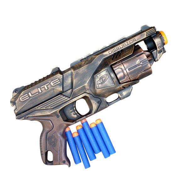 Steampunk juguete pistola Nerf Elite por UmbrellaLaboratory en Etsy