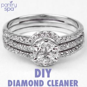 - Homemade Diamond Cleaner Recipe: - 6 TB Water - 1 TB Ammonia Diamond Cleaner Remedy Instructions: I was browsing through Tiffany & Co. the other day (d