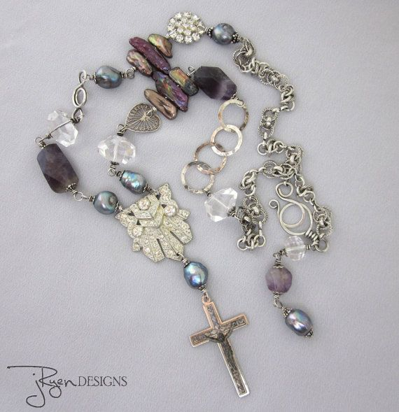 Religious Jewelry Religious Cross Necklace by jryendesigns on Etsy