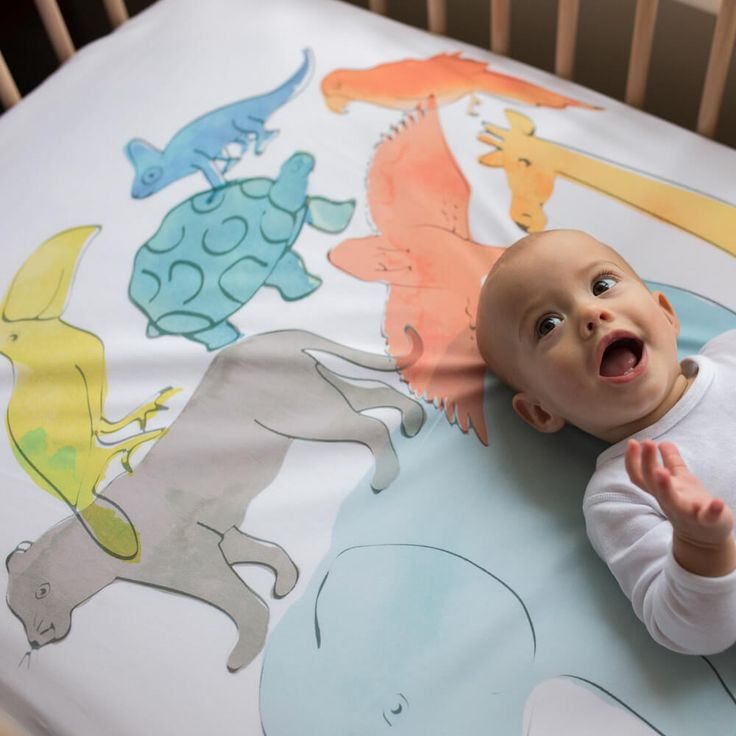 WOW Cot fitted sheet  - Animal Stack