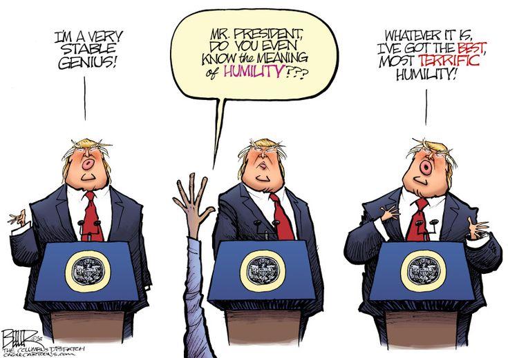 Nate Beeler | Copyright 2018 Cagle Cartoons || http://theweek.com/cartoons/747958/political-cartoon-trump-stable-genius