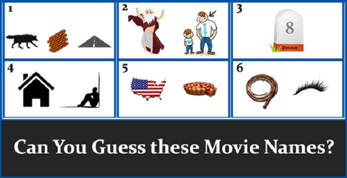 Guess These Movie Names Which You D Love To Be A Part Of Share Text 6 Satisfying Movie Titles To Guess Rebus Puzzles Movies Movie Titles