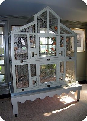 Canary cage at Martha Stewart's home