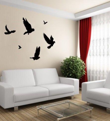 """Wandtattoos, Wandsticker, Wandaufkleber Taube (Pigeon) - dieses Wandtattoo eignet sich prinzipiell für alle Räume.  Zahlreiche Formate und Farben von Wandtattoo """"Pigeon"""" bieten ein hohes Maß an Individualität an."""
