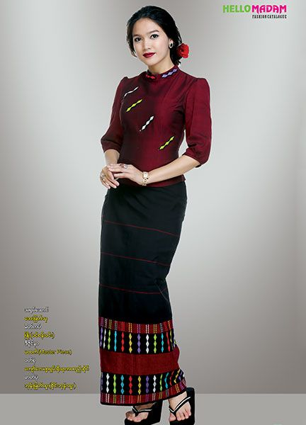 Myanmar Traditional Dress | Hello Madam Catalogue | Myanmar Silk, Myanmar Silk Style, Myanmar Traditional, Myanmar Wedding Dress, Myanmar Fancy Dress , Myanmar Women Affair, Bataik, Gown & Skirt, Myanmar Cotton, Myanmar Zar, Singer Fashion, Skirt, Special color