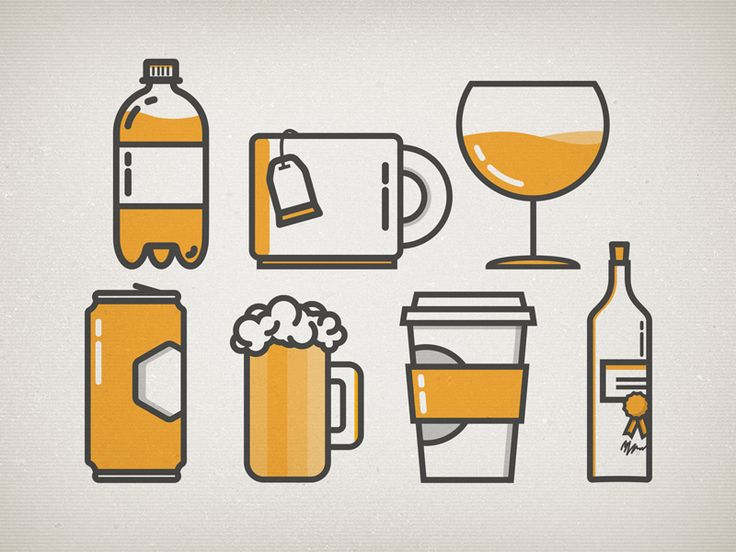 Drink Icons by Grant Fisher