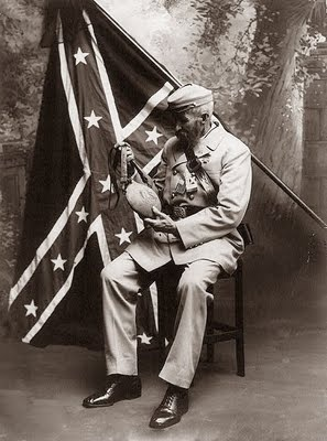 Picture of an old Rebel Soldier, taken in 1913.    The South Will Rise Again!