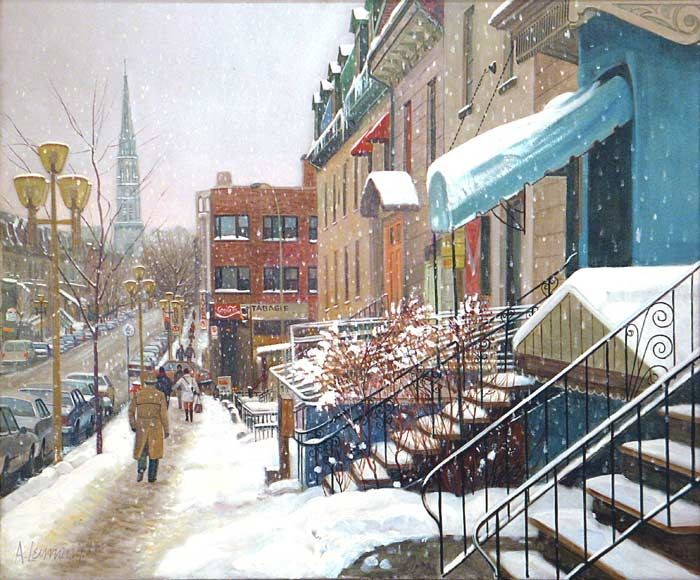 _ARCH_ « St-Denis Street, Montreal » by Andris Leimanis - Galerie Lamoureux Ritzenhoff