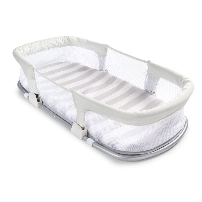 SwaddleMe By Your side Sleeper - Grey/White Stripe