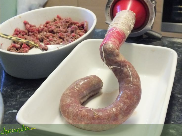 Making your own Boerewors - filling the casing