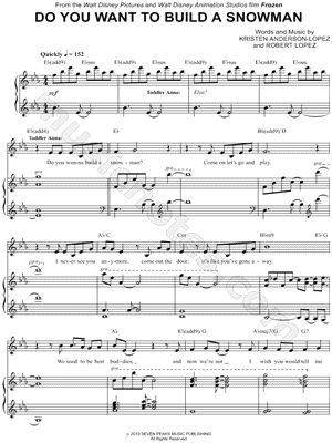 Do You Want to Build a Snowman? piano sheet music