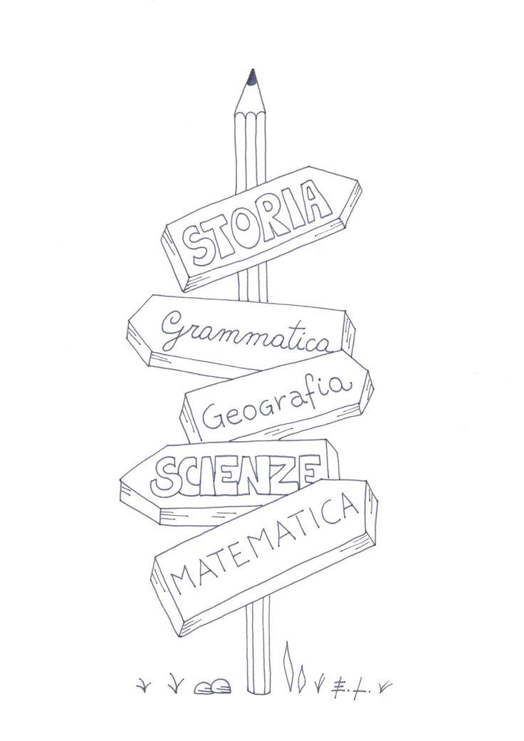 Materie scuola, poster stampabile, home decor, download istantaneo, biglietto stampabile, cartolina stampabile, arte digitale di ELdesingArt su Etsy