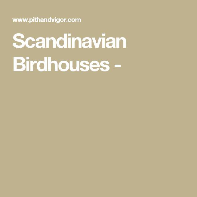 Scandinavian Birdhouses -