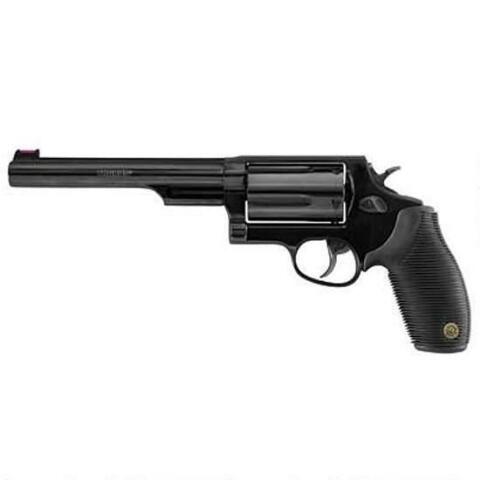"Taurus Judge Model 4510 Revolver .45 Long Colt and .410 Bore 6.5"" Barrel 5 Rounds Black Ribber Grip Blued Finish 2441061T - 2-441061T - 725327600954"