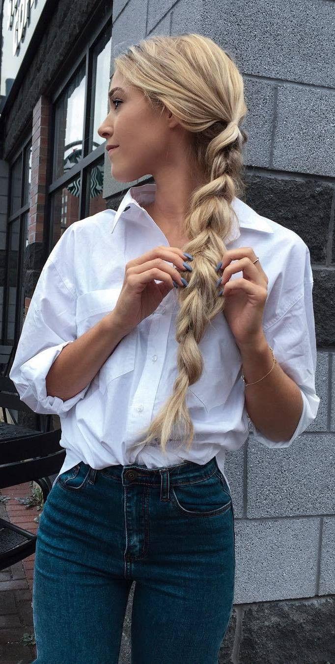 simple ootd shirt + jeans