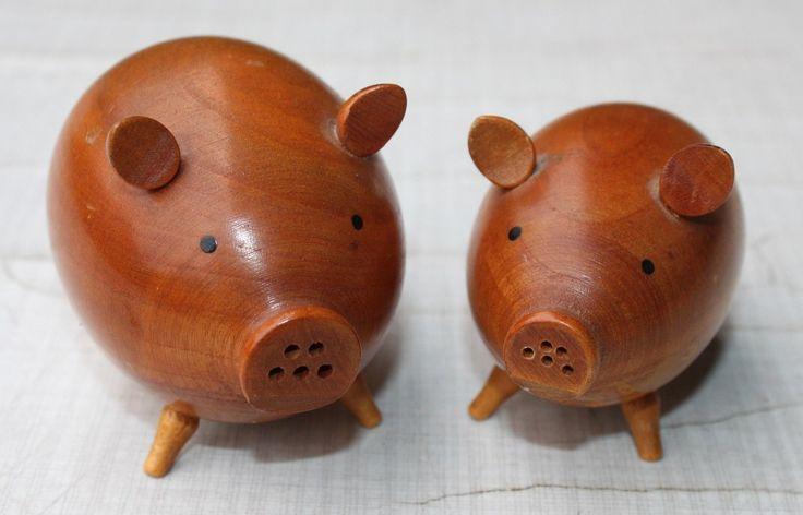 Salzstreuer und Pfefferstreuer Schwein