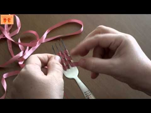 PLASTİK ÇATAL İLE İĞNE OYASI YAPIMI (D.I.Y) - YouTube