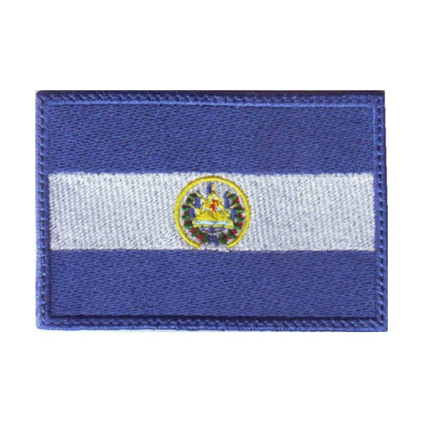 EL SALVADOR FLAG EMBROIDERED PATCH #ThePatchLab