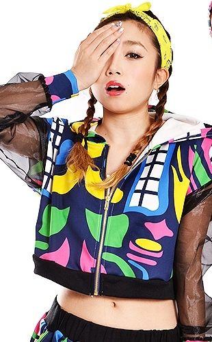プッチ柄★袖シースルーパーカー★ - ダンスウェア・ダンスパンツの通販|B系ファッション【QUEEN B】
