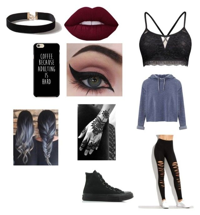 """Everyday style/wattpad story/ roleplay"" by isabelegolia on Polyvore featuring Miss Selfridge, Concrete Minerals, Dorothy Perkins and Converse"
