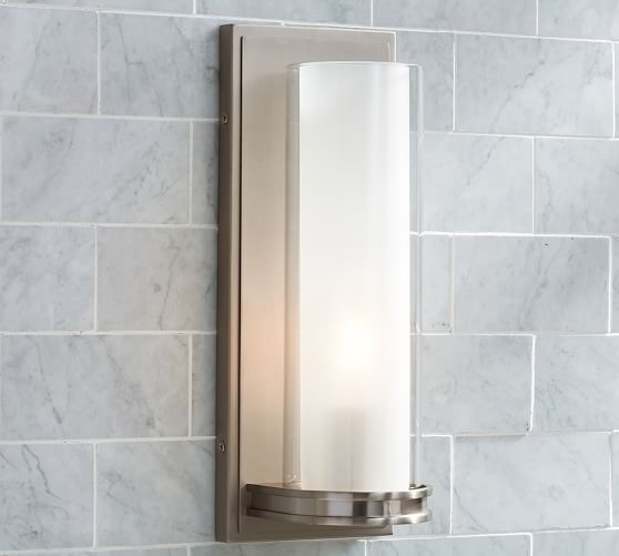 Bathroom Tube Sconces 32 best bathroom images on pinterest | bathroom ideas, bathroom