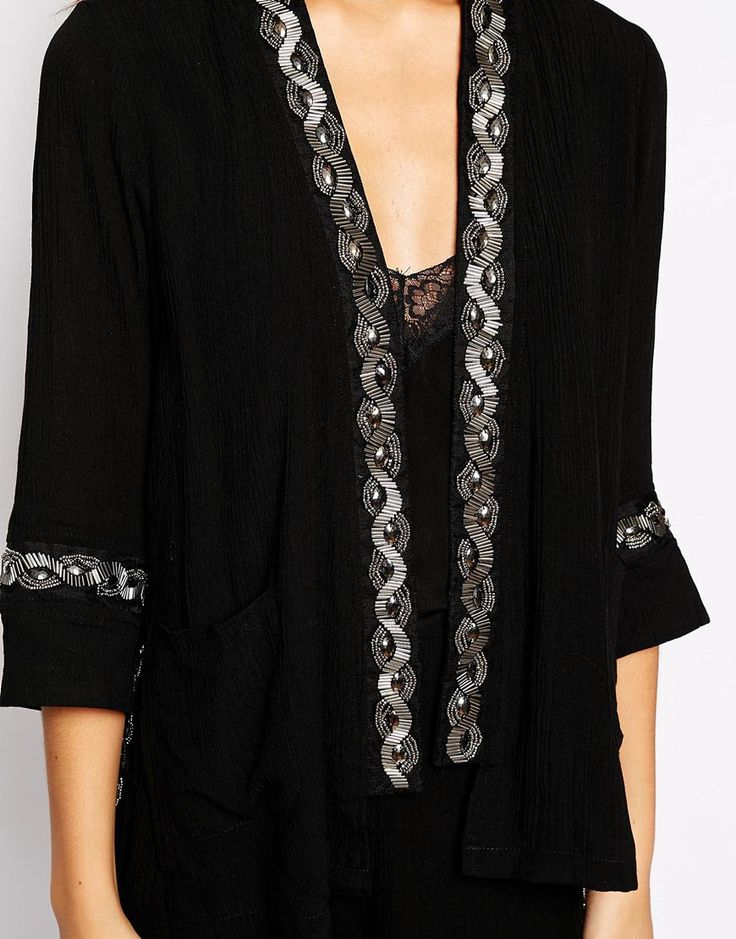 Fashion Union Kimono With Embellishment