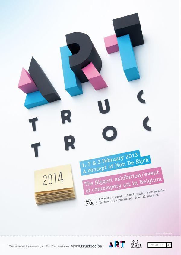 Art Truc Troc 2014 by INK studio, via Behance
