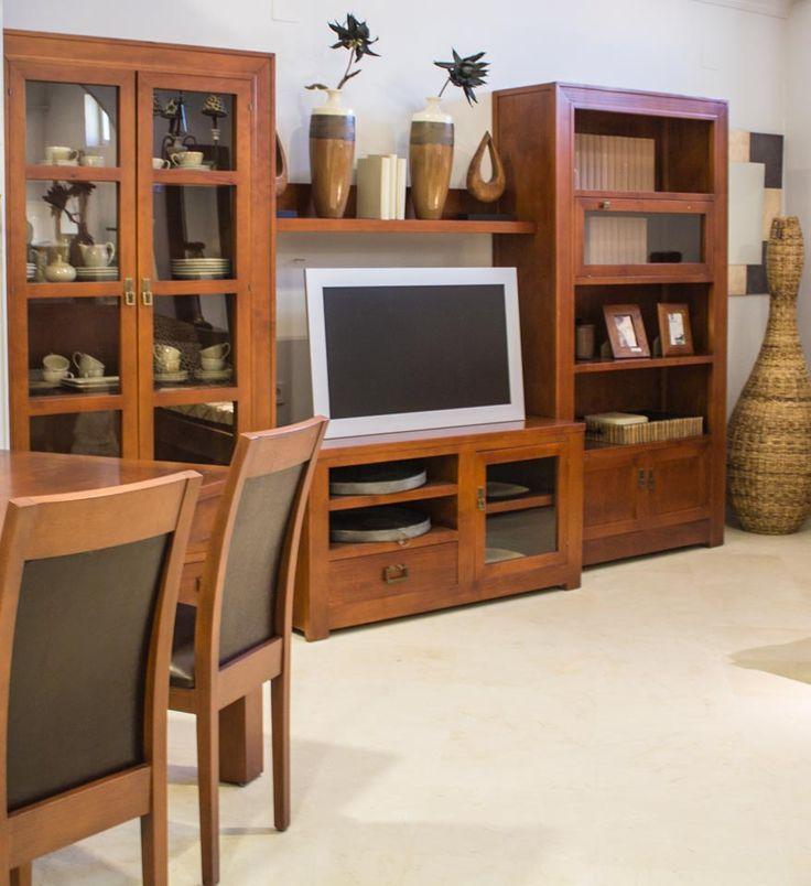 Mueble salon rustico mueble de saln rstico kabire mesa de centro estilo rustico natural - Muebles en crudo sevilla ...