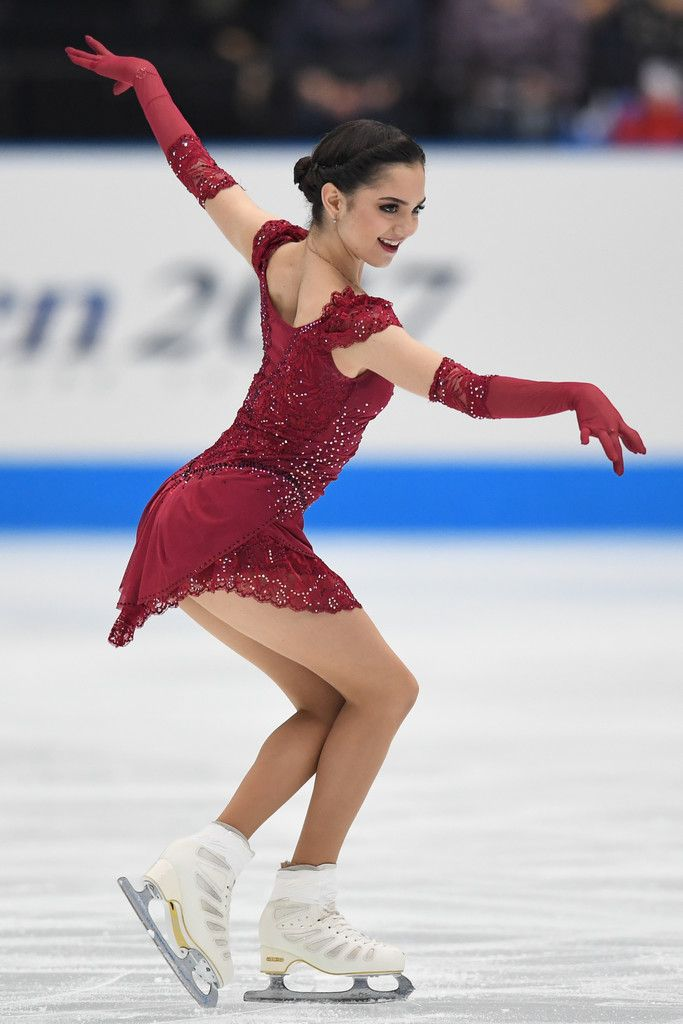 Evgenia Medvedeva of Russia competes during the figure skating Japan Open at Saitama Super Arena on October 7, 2017 in Saitama, Japan.