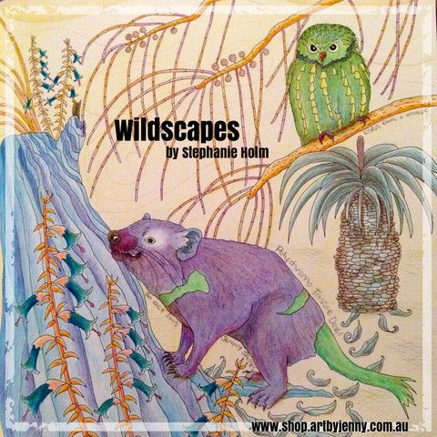 Wildscapes - Australian Themed Art Therapy Colouring Book for Adults a | Art Supplies for Creative Minds | Mixed Media, Art Journaling, Drawing and Painting