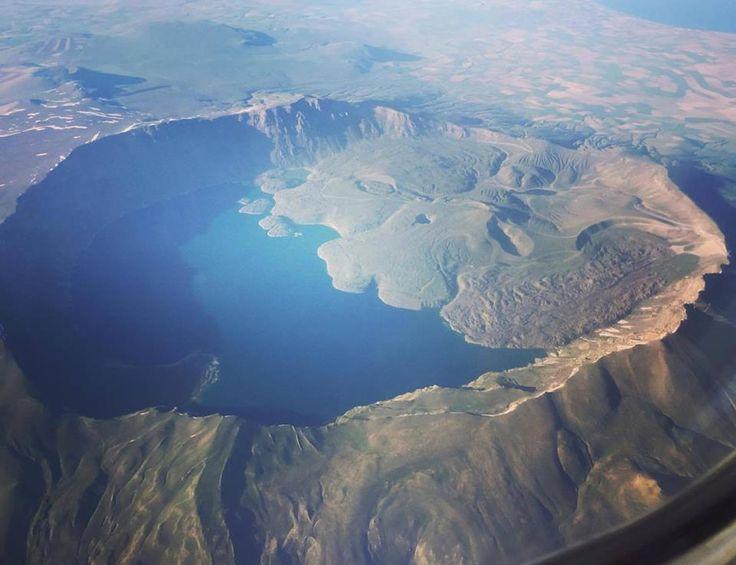 Gökyüzünden Nemrut Krater Gölü   Fotoğraf: Kenan Kendilci