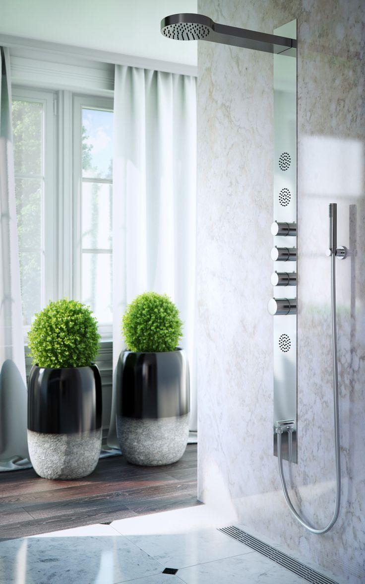 Panel prysznicowy z termostatem KAPPA marki Axel http://www.excellent.com.pl/produkt/657/panel-prysznicowy-z-termostatem-kappa