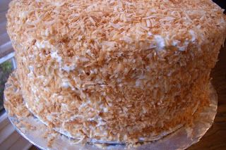 This cake is the signature cake belonging to chef Robert Carter of The Peninsula Grill in Charleston, SC. It is based on his grandmother's r...
